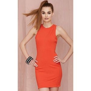 Nasty Gal Brickell Ribbed Dress